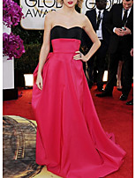 cheap -A-Line Celebrity Style Elegant Prom Formal Evening Dress Sweetheart Neckline Sleeveless Court Train Satin with Pleats 2021