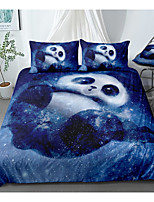 cheap -animal series panda print 3-piece duvet cover set hotel bedding sets comforter cover with soft lightweight microfiber, include 1 duvet cover, 2 pillowcases for double/queen/king(1 pillowcase for