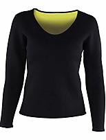 cheap -Women Waist Trainer Hot Neoprene Shirt Sauna Suit Sweat Body Shaper Shirt Slimming Long Sleeves Shirt (M)