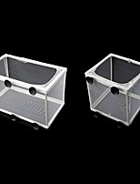cheap -Fish Tank Aquarium Guppy Breeding Breeder Fish Baby Gauze Trap Box Isolator