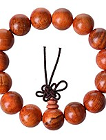 cheap -Men,Women's Wood Bracelet Link Wrist Tibetan Buddhist Blood Dragon Wood Bead Prayer Buddha Mala Chinese Knot Elastic