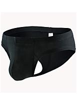 cheap -Men's 1 Piece Basic Boxers Underwear - Normal Low Waist Light Blue White Black M L XL