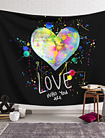 cheap -Valentine's Day Wall Tapestry Art Decor Blanket Curtain Hanging Home Bedroom Living Room Decoration Love Heart Graffiti