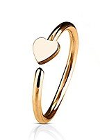 cheap -20g rose gold heart bendable hoop ring nose ear cartilage