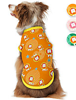 cheap -Dog Shirt / T-Shirt Lion Animal Cartoon Elegant Cute Casual / Daily Dog Clothes Puppy Clothes Dog Outfits Breathable Yellow Pink Green Costume for Girl and Boy Dog Polyster S M L XL