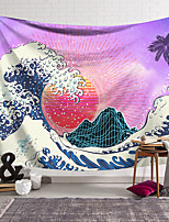 cheap -Kanagawa Wave Ukiyo-E Wall Tapestry Art Decor Blanket Curtain Hanging Home Bedroom Living Room Decoration Japanese Painting Style Sea Ocean Wave Mountain Fuji Digital