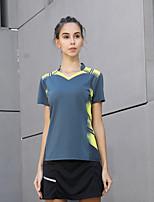 cheap -Women's Tennis Badminton Table Tennis Tee Tshirt Short Sleeve Breathable Quick Dry Moisture Wicking Sports Outdoor Autumn / Fall Spring Summer Dark Navy / High Elasticity