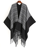 cheap -Sleeveless Shawls / Capes Acrylic Wedding / Party / Evening Shawl & Wrap / Women's Wrap With Plaid
