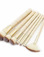 cheap -Makeup brushes Bamboo Shape Makeup Brush Set Tools Make-up Toiletry Kit Nylon Cosmetic Brush Eye Brush 7pcs (color : 7-piece)