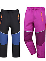 cheap -Boys' Girls' Hiking Pants Trousers Patchwork Winter Outdoor Standard Fit Fleece Lining Breathable Warm Stretchy Bottoms Blue / Black Black Red Burgundy Grey Fishing Climbing Camping / Hiking / Caving
