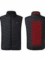cheap -Women's Heated Vest Hiking Down Jacket Hiking Vest / Gilet Sleeveless Vest / Gilet Top Outdoor UV Sun Protection Quick Dry Lightweight Breathable Winter Black Blue Fishing Climbing Camping / Hiking