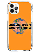 cheap -phrase fashion case for apple iphone 12 iphone 11 iphone 12 pro max unique design jesus over everything protective case shockproof back cover tpu instagram style case