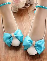 cheap -Women's Wedding Shoes Flat Heel Round Toe Wedding Walking Shoes PU Purple Blue Green