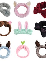 cheap -5pcs Headbands for Women Girls Bow Wash Face Turban Makeup Elastic Hair Bands Coral Fleece Hair Accessories