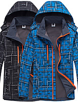 cheap -Men's Hoodie Jacket Hiking Softshell Jacket Hiking Windbreaker Outdoor Lightweight Windproof Breathable Quick Dry Jacket Top Fishing Climbing Camping / Hiking / Caving Sapphire Black Dark Gray Army