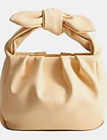 cheap -women bow pouch solid casual handbag shoulder bag
