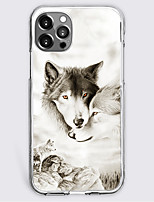 cheap -Graphic Wolf Case For Apple iPhone 12 iPhone 11 iPhone 12 Pro Max Unique Design Protective Case Shockproof Back Cover TPU