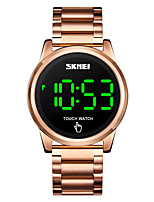 cheap -SKMEI Men's Digital Watch Digital Stylish LED Light Digital Rose Gold Black Gold / One Year / Stainless Steel