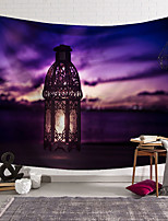 cheap -wall tapestry art decor blanket curtain hanging home bedroom living room decoration purple cloud lantern polyester