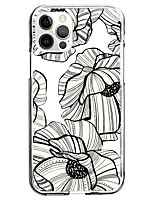 cheap -the sketch flower fashion case for apple iphone 12 iphone 11 iphone 12 pro max unique design protective case shockproof back cover tpu