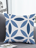 cheap -1 pcs Polyester Pillow Cover & Insert, Geometric Leaf Simple Classic Square Zipper Polyester Traditional Classic