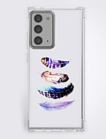 cheap -feathers shading case for Samsung Galaxy S21 20 plus s20 ultra Note 20 10 S20 FE design protective case shockproof back cover tpu