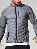 cheap -Men's Hiking Down Jacket Winter Outdoor Lightweight Windproof Breathable Quick Dry Fishing Climbing Camping / Hiking / Caving Black Gray
