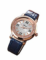 cheap -Multifunction Watch,Fashion Luxury Quartz Watches Girls Ladies Wristwatch with Leather Band and Gold Stainless Steel Case,Black