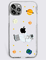 cheap -Astronaut Case For Apple iPhone 12 iPhone 11 iPhone 12 Pro Max Unique Design Protective Case Shockproof Back Cover TPU