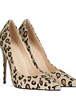 cheap -Women's Wedding Shoes Stiletto Heel Pointed Toe Wedding Daily Horse Hair Synthetics Almond White