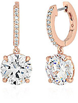 cheap -kate spade new york Clear/Rose Gold Drop Earrings