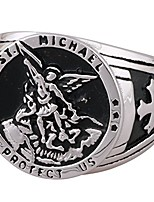 cheap -St Michael The Archangel Catholic Medal Stainless Steel Amulet Ring