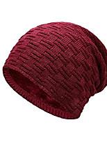 cheap -ELLEN Winter Warm Knitting Hats Wool Baggy Slouchy Beanie Hat Windproof for Men & Women - Red