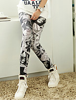 cheap -Women's Stylish Streetwear Breathable Comfort Casual Weekend Leggings Pants Graphic Ankle-Length Print Gray
