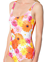 cheap -Women's New Colorful Lady Monokini Swimsuit Floral Tummy Control Open Back Slim Bodysuit Normal Strap Swimwear Bathing Suits Rainbow / One Piece / Party / Print
