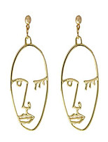 cheap -Unique Dangling Face Shaped Earrings for Women | Gold | Elegant and Fashionable | Perfect Christmas/Birthday Gift (Earrings #2)