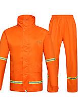 cheap -Men's Waterproof Hiking Jacket Rain Jacket Outdoor Lightweight Windproof Breathable Quick Dry Raincoat Top Fishing Climbing Camping / Hiking / Caving Orange red Navy