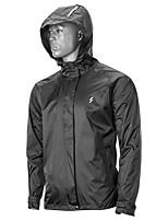 cheap -Men's Women's Waterproof Hiking Jacket Rain Jacket Outdoor Lightweight Windproof Breathable Quick Dry Raincoat Top Fishing Climbing Camping / Hiking / Caving Black