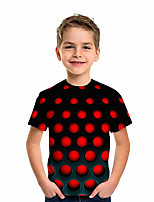 cheap -Kids Boys' Active Graphic 3D Print Short Sleeve Tee Red