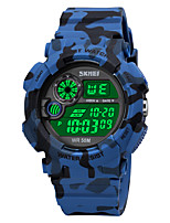 cheap -SKMEI Men's Sport Watch Digital Sporty Stylish Calendar / date / day Chronograph Alarm Clock Digital Black Blue Green / One Year / Silicone / Shock Resistant