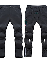 cheap -Men's Hiking Pants Trousers Solid Color Winter Outdoor Standard Fit Fleece Lining Breathable Warm Stretchy Bottoms Black Fishing Climbing Camping / Hiking / Caving M L XL XXL XXXL
