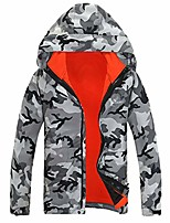 cheap -Men's Women's Hiking 3-in-1 Jackets Ski Jacket Winter Outdoor Waterproof Lightweight Windproof Breathable Winter Jacket Top Fishing Climbing Camping / Hiking / Caving Yellow camouflage Green