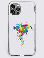 cheap -multicolor handprint fashion case for apple iphone 12 iphone 11 iphone 12 pro max unique design protective case shockproof back cover tpu