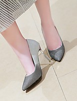 cheap -Women's Wedding Shoes Stiletto Heel Pointed Toe Wedding Daily PU Synthetics Pink Silver