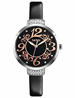 cheap -fashion women's silver watch ultra-thin leather watches for women diamond watch with mother-of-pearl dial