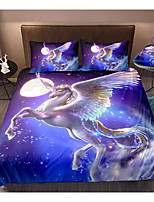 cheap -Flying Horse 3-Piece Duvet Cover Set Hotel Bedding Sets Comforter Cover with Soft Lightweight Microfiber, Include 1 Duvet Cover, 2 Pillowcases for Double/Queen/King(1 Pillowcase for Twin/Single)