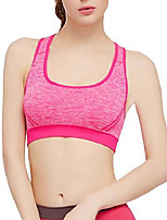 cheap -Women Cross Back Wireless Vest Push Up Yoga Sports Bra Red L