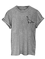 cheap -Womens Fashion Sexy Fashion Womens Short Sleeve Cotton Cartoon Dinosaur T-Shirt Top Blouse (XXL, Grey)