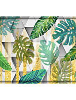 cheap -Tropical Plants Print Memory Foam Bath Mat Non Slip Absorbent Bathroom Mat Super Soft Microfiber Bath Mat Set Super Cozy Velvety Bathroom Rug Carpet