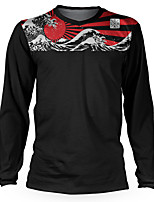cheap -Men's Long Sleeve Downhill Jersey Black Bike Top Mountain Bike MTB Road Bike Cycling Breathable Quick Dry Sports Clothing Apparel / Stretchy / Athletic